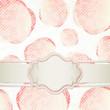 Sfondo romantico con etichetta - Romantic template design