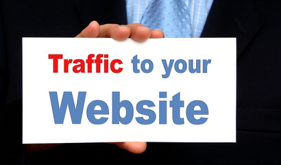 Traffic to your Website - Business Concept