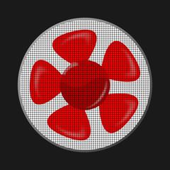 fan red