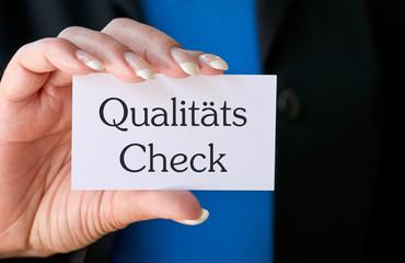Qualitäts Check - Qualitätskontrolle