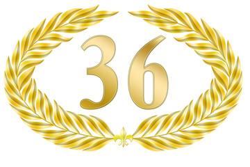 jubiläum lorbeer 36 geburtstag