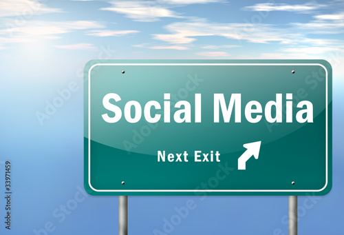 "Highway Signpost ""Social Media - Next Exit"""