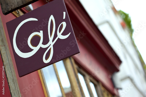 Café, bistrot, france, enseigne, commerce, bar, restaurant