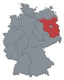 Mapa Německa, Brandenburg zvýrazněny