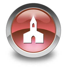 """Red Glossy Pictogram """"Chapel"""""""