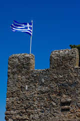 Greek Flag on Fort