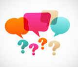 Fototapety question mark with speech bubles