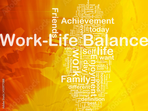 Work –life balance background concept