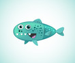 Cartoon Funny Fish Vector