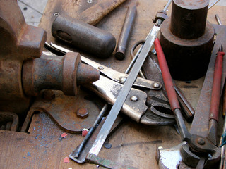 tools of handicraftsman metalwork and forge