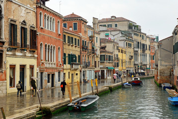 Italy,Venice rio of Mercy in Cannaregio area.