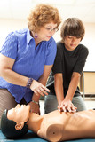 Teaching CPR poster