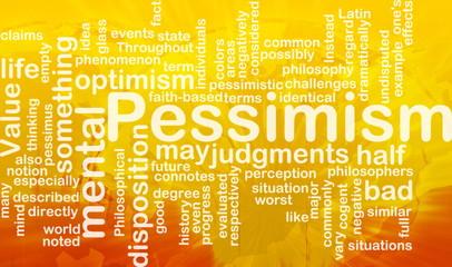 Pessimism word cloud