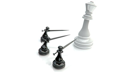 Chess fight for queen