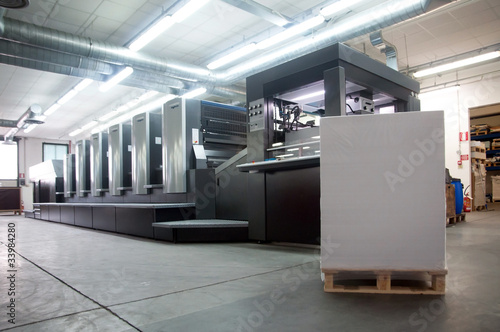 Leinwanddruck Bild Press printing - Offset machine