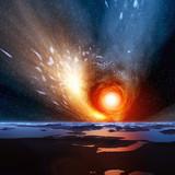 Fototapete Sterne - Erde - Abstrakt