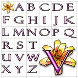 ABC Alphabet background helix felix pink design poster