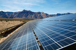 Solar panels in the Mojave Desert. - 33986266