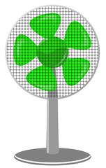fan Green dot Panel