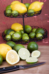 Sliced and Whole Lemons and Limes