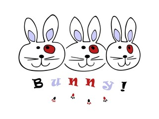 Bunny rabbit vector illustration