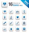 White Squares - medical icons