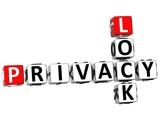 3D Privacy Lock Crossword poster