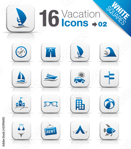 White Squares - Vacation icons