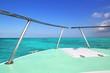 Caribbean gren boat bow turquoise sea blue sky