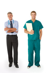 Two male medical professionals