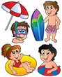 Swimming kids collection