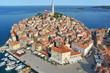 Luftaufnahme von Rovinj-Istrien im Sommer.
