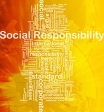 Social responsibility background concept poster