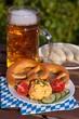 Bier, Obazda und Brezel
