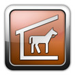 "Bronze Glossy Square Icon ""Stable"""