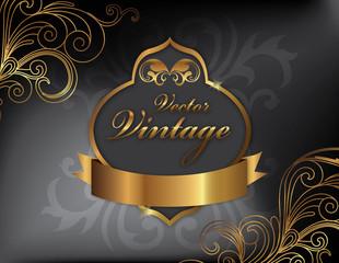 Vector vintage frame (EPS)