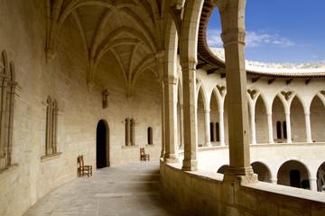 Castle Castillo de Bellver in Majorca at Palma of Mallorca