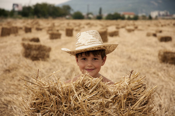 Boy in the field
