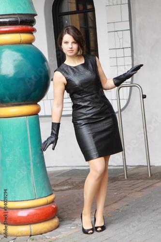 Fashion Shooting im Lederkleid