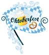 Oktoberfest, Ranke, Bayern, Brezel, Fahne, Flagge