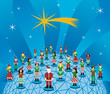 Christmas global social media network