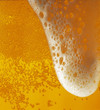 Light beer with a froth texture