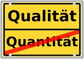 Qualität vs. Quantität