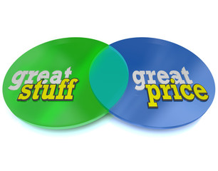 Great Stuff and Affordable Price Words on Venn Diagram