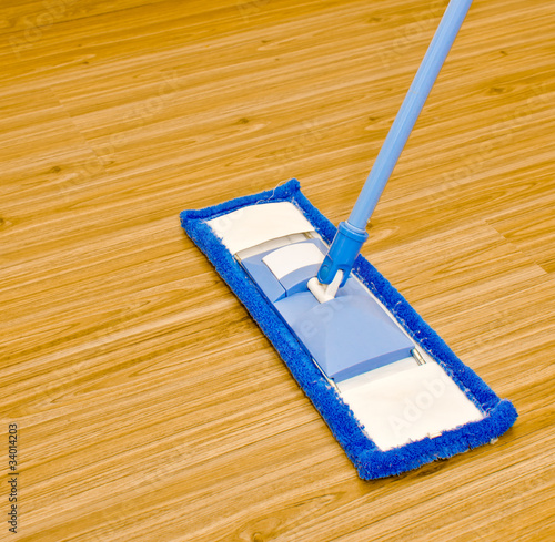 Modern style mop on laminated floor