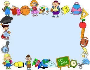милые школьники и школьницы, школа элементов, кадр