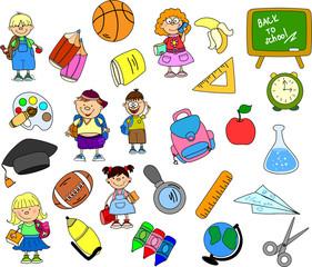 милые школьники и школьницы, школа элементов,