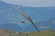 Hanggliding in swiss alps, Switzerland