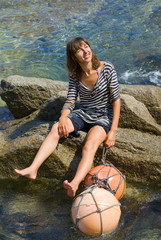 Girl with floats 6