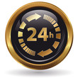24h - Button gold